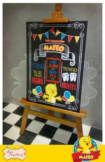 Fiesta Pollito amarillito - chalkboard
