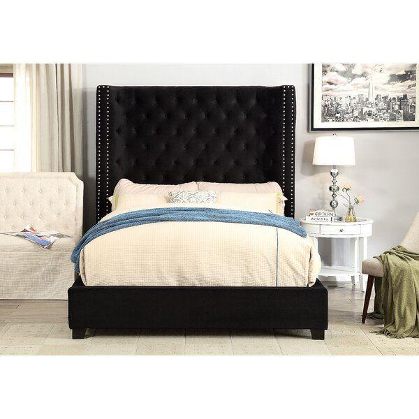 Steph Upholstered Standard Bed In 2020 Bed Frame Sets Furniture