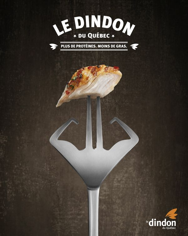 "Le Dindon du Québec / ""More Protein, less fat"" on Behance"