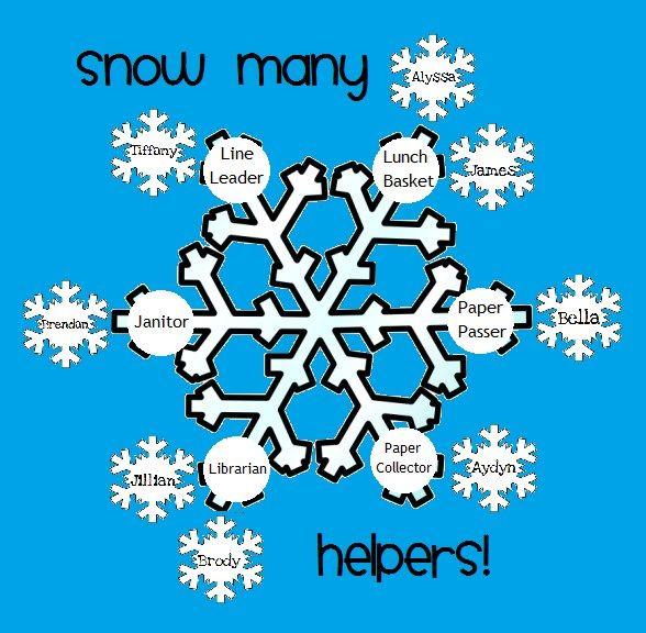 Snow Many Helpers! - Winter Bulletin Board Idea
