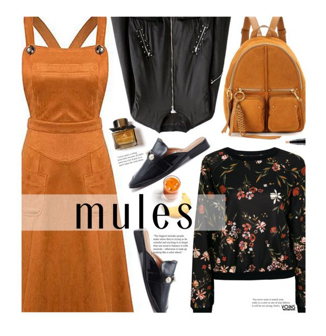 """Slip 'Em On: Mules"" by beebeely-look ❤ liked on Polyvore featuring See by Chloé, MAC Cosmetics, Burberry, casual, floralprint, casualoutfit, mules and yoinscollection"