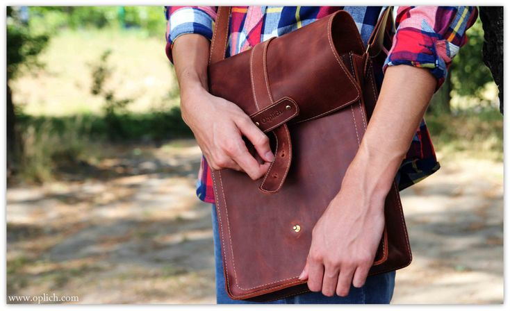 Cognac Leather Vertical Messenger Bag Men - 15-inch Computer Laptop Tablet A4 Bag - Genuine Italian Leather by OplichLeatherGoods on Etsy