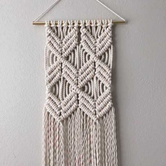 I'm thinking that I should write a macrame wall hanging pattern for this. ✨ For now this is the most similar and is available now.