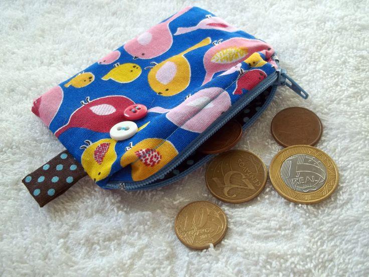 Porta-moedas Passarinhos | R$8,00