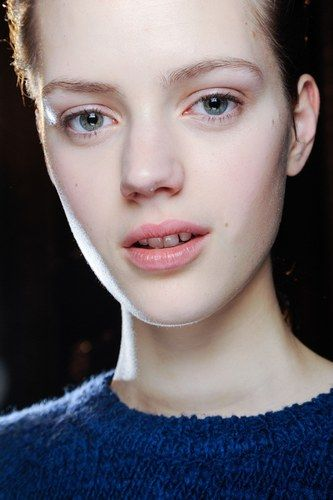 There's no better time than winter to trial fresh faced make-up and a plumped with Vaseline lip. Mascara free zone!