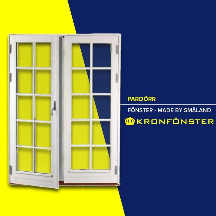 Pardörrar från Kronfönster - Made by Småland  Titan: Pardörr Modulbredd 13*21 (128*208 cm), 3-glas, utåtgående  #Pardörr #Dörrar #Titan #fönsterdörr #pardörrar #fönsterdörrar #Glasdörrar #Dörr #Kronfönster  Läs mer » https://www.kronfonster.se/butiken/product/306-pardorr_13*21_128*208_cm_3-glas_utatgaende.html?utm_content=buffer1279b&utm_medium=social&utm_source=pinterest.com&utm_campaign=buffer