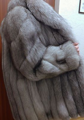 Bigfoot blaufuchs renard argenté gorille saga Fox Fur Jacket exquise quality