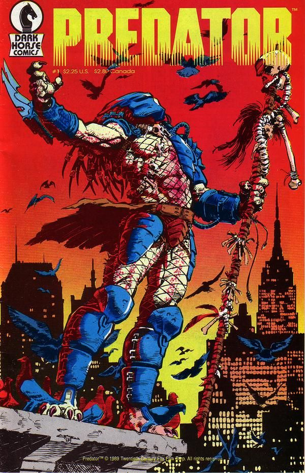 Predator #1 - Comic Book Cover - used to have this and used it to draw the Predator all the time...