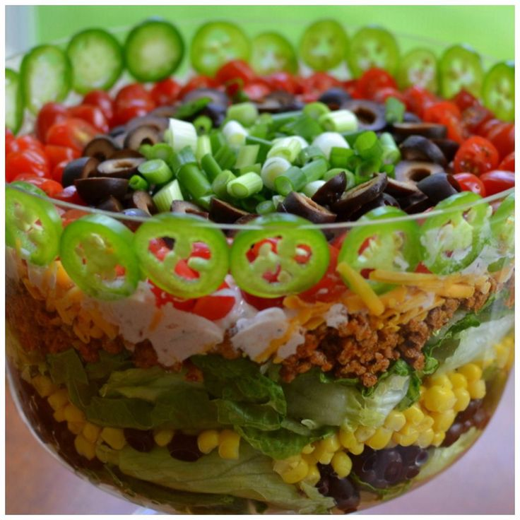 This Layered Taco Salad is as beautiful as it is delicious! You can serve it for a luncheon or a Saturday night dinner complete with spicy Bloody Marys. You can use ground beef or ground turkey. I use ground turkey just because it is a little leaner. You can substitute different items if you really...Read More »
