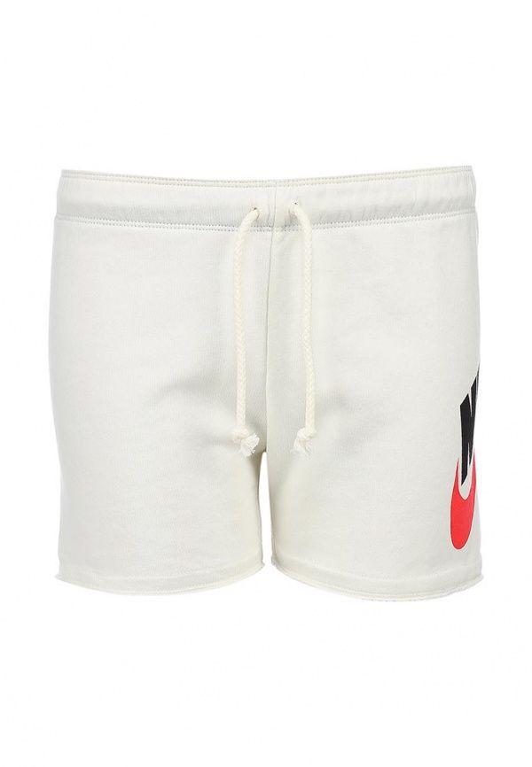 Шорты Nike / Найк Цвет: белый. Сезон: Весна-лето 2014. С бесплатной доставкой и примеркой на Lamoda. http://j.mp/1Ak8zYE
