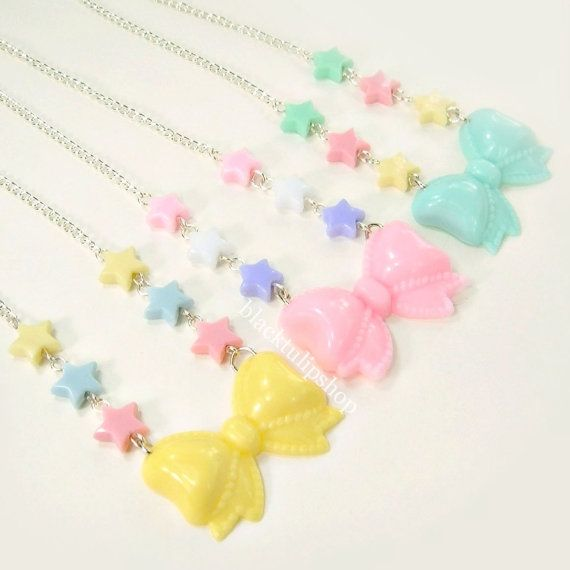 Hey, I found this really awesome Etsy listing at http://www.etsy.com/listing/158604477/kawaii-fairy-kei-lolita-pastel-star-bow