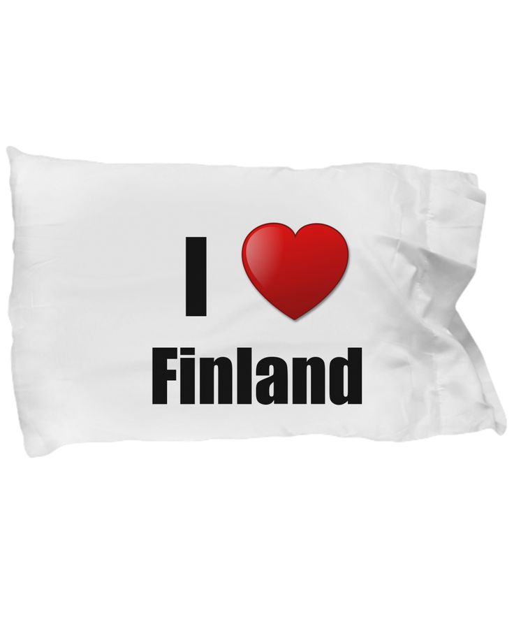 Finland Pillowcase I Love Country Lover Pride Funn…