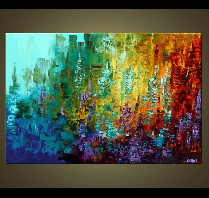 17 best ideas about abstract art paintings on pinterest for Contemporary mural