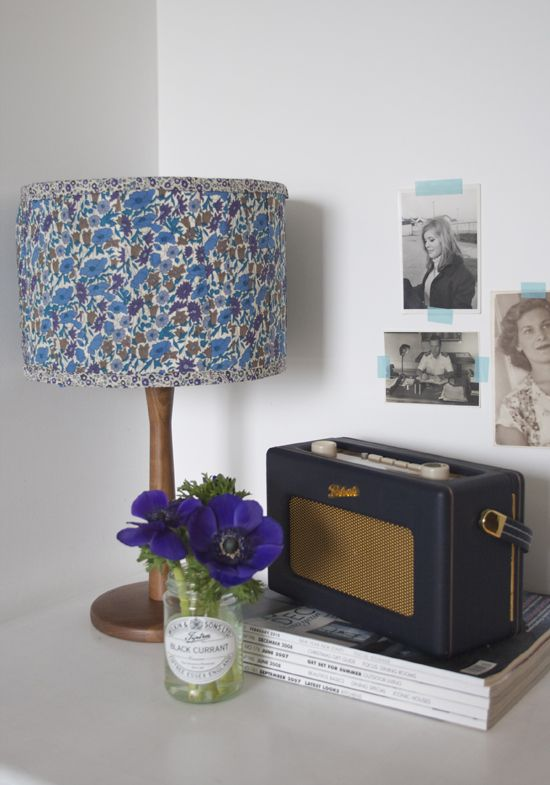 Love this fabric lampshade? Get the DIY instructions to make your own.