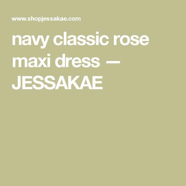 navy classic rose maxi dress jessakae