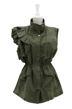 military vest with feminine touch