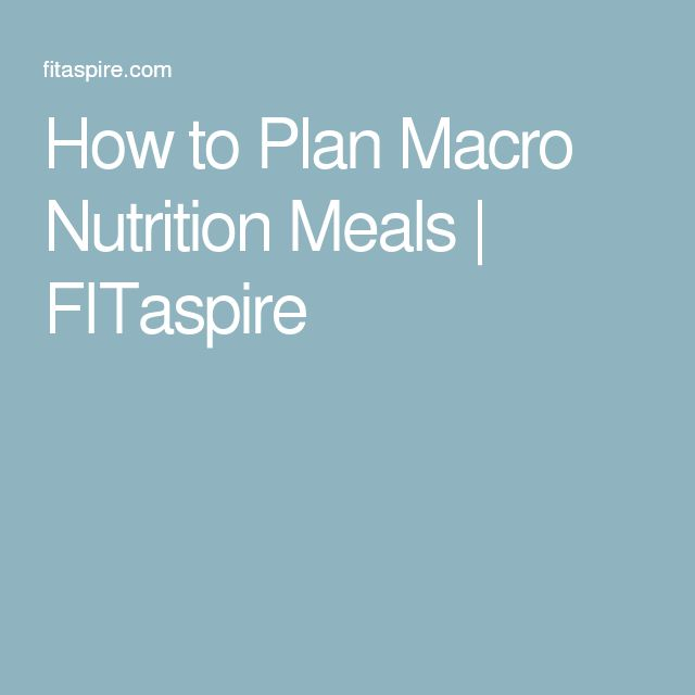 How to Plan Macro Nutrition Meals | FITaspire
