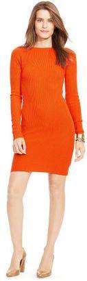 Ralph Lauren Petite Merino Wool Sweater Dress - Shop for women's Sweater - campfire orange Sweater