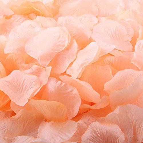 Pack of 1000 Silk Rose Petals, Artificial Flowers for Dec...