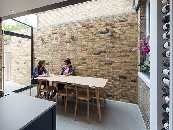 "Completed in Spring 2015, this glazed side-return creates an elegant kitchen and dining space for an East Oxford terrace. The client said,""The side return has changed our kitchen from a narro…"