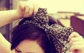 cute bow in hair