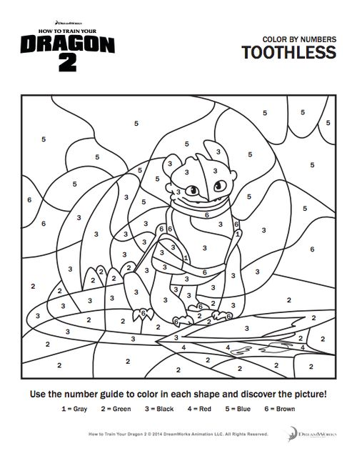How To Train Your Dragon Coloring Page