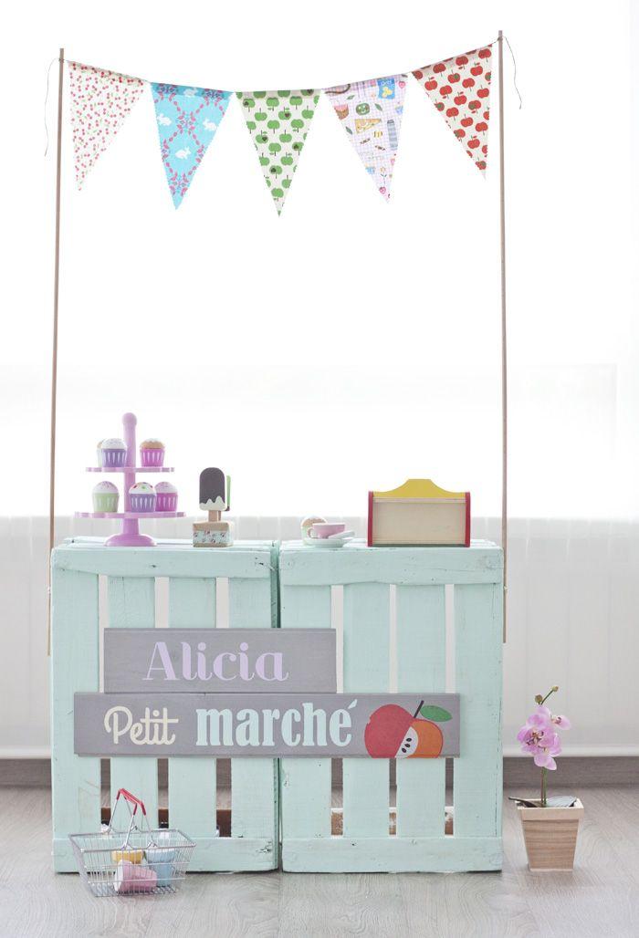 Azucarillos de Colores: Tenderete handmade para jugar a las tiendas