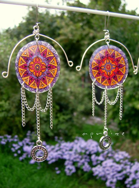Unique 'Four Cardial Points of SpaceTime' earrings by aproize | Flickr - Photo Sharing!