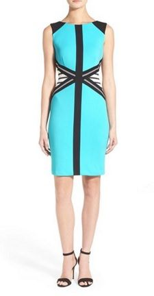 Love the color and detail  Would look great with a black grey white bright contrasting color blazer or cardigan