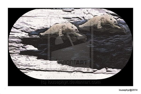 Polar Oil . by lousephyr on devianArt  2 Polar Bear try to make their way through thick Oil in Arctic Circle; inspired by Russians drilling for Oil in the Arctic;