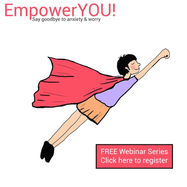 Anxiety is not nice and neither is worry. Did you know there are other options?  I would like to share some tips that help me live anxiety free in a series of webinars entitled EmpowerYOU. These webinars are free. Find out more here. http://app.webinarjam.net/register/10325/7827e855f3
