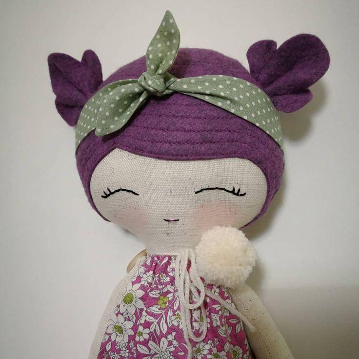 New doll for you #mbdesings #handmade #handmadedoll #handmadetoys #dollsforkids #softdoll #sweetdoll #doll #makerdoll #dolls #sweet #muñeca #cottondoll #cotton #felt #feltdoll #heirloomdoll #hechoamano #work #poupée #wool #picoftheday #flower #dollmakingprocess #fabricdoll #etsy #etsyshop