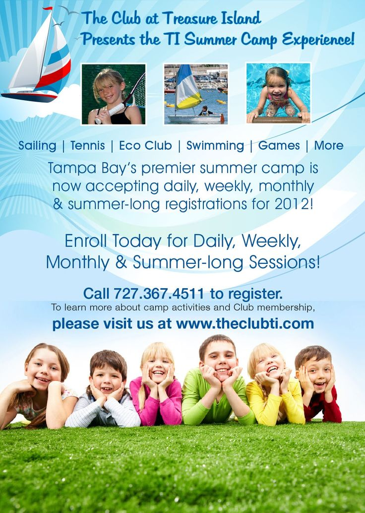 TI Summer Camp is returning to The Club!  We have so many fun activities planned for our Junior Treasured Members!  Campers will enjoy Sailing Lessons, Tennis Lessons, Swimming, Arcade Games, and special Eco Club Learning Lessons daily!  Come join the fun!  Request your registration form today from Concierge - 727-367-4511.  Looking forward to a great summer!