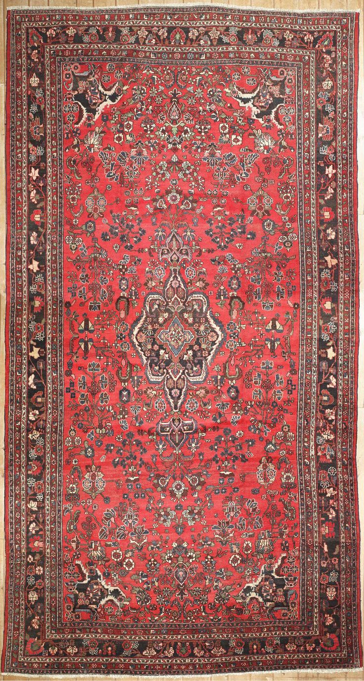 This beautiful Handmade Knotted Rectangular rug is approximately 10 x 19 New Contemporary area rug from our large collection of handmade area rugs with Persian Hamadan style from Iran/Persia with Wool