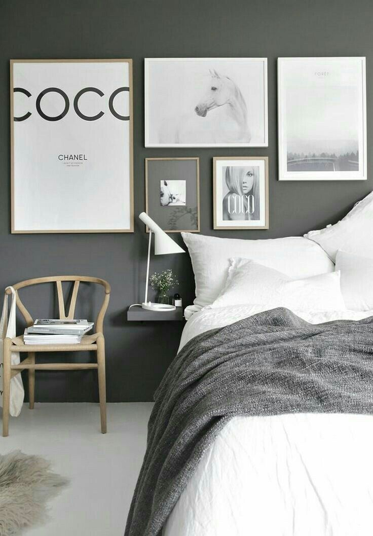 A Scandinavian bedroom scheme is stunning elegant