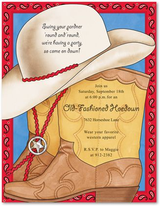 9954e22ebc2223e568714cc389822caf cowboy theme cowgirl party 396 best cowboy christmas in july images on pinterest,Hoedown Party Invitations