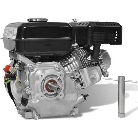 Moteur essence 6,5 HP 4,8 kW Noir