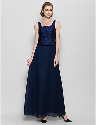Lanting Невеста До щиколотки Шифон Платье для подружек невесты Футляр Квадратный…