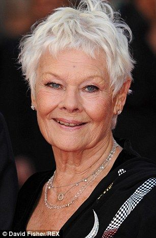 Disciplined: Dame Judi Denchrevealed she learns a new poem or word every day to keep her mind active