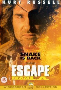 Escape from L.A. (3 stars) Not as good as Escape from New York, but watchable. Some early CGI that really looks dated and fake beyond belief. Russell knows this character well (he should, he co-wrote the movie) and is charismatic. The acting is below average and the plot has large holes. Just watch without a critical eye and you'll find you can enjoy this.