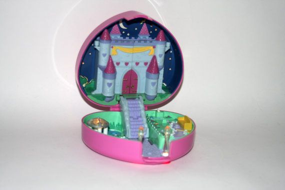 Polly Pocket Starlight Castle Case Only Bluebird Vintage 1992 by nodemo