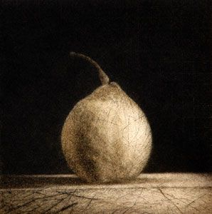 Chris Denton, One #7, Drypoint on 265 x 240 mm paper, from an edition of 30, 2004.
