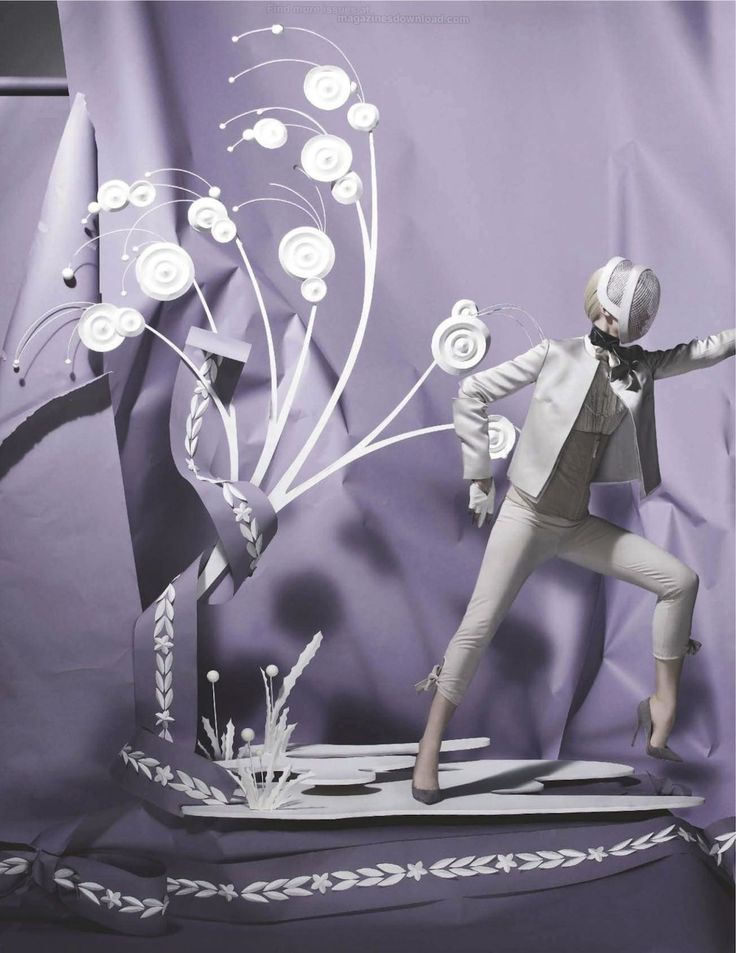 Vogue UK:  Tim Gutt paper fantasy based in the Olympics