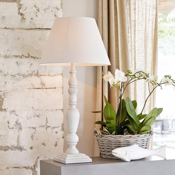 Tischlampe Limestone antikweiß