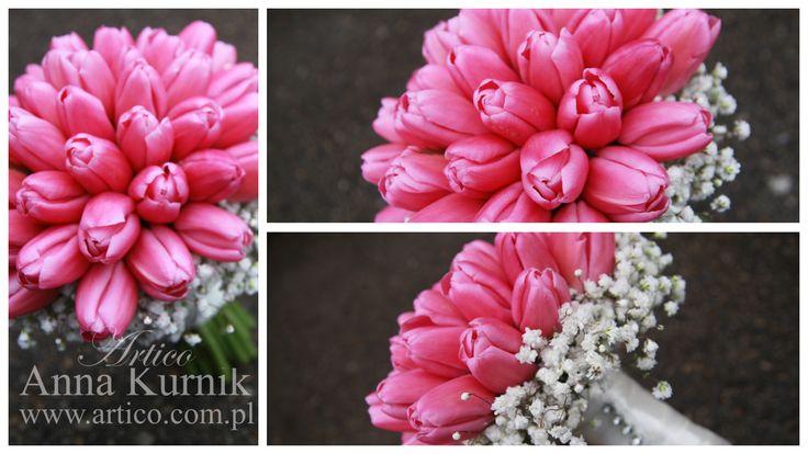 bukiet ślubny,  Bukiet ślubny nie musi być nudny ;)  róż, bukiet ślubny, tulipany, dekoracja ślubna