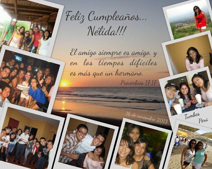 Feliz cumpleaños Nelida