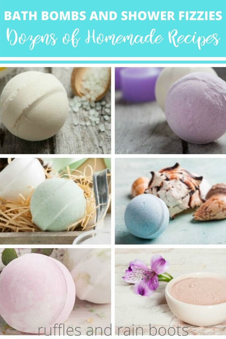 Bath bombs and shower fizzies nofail recipes homemade