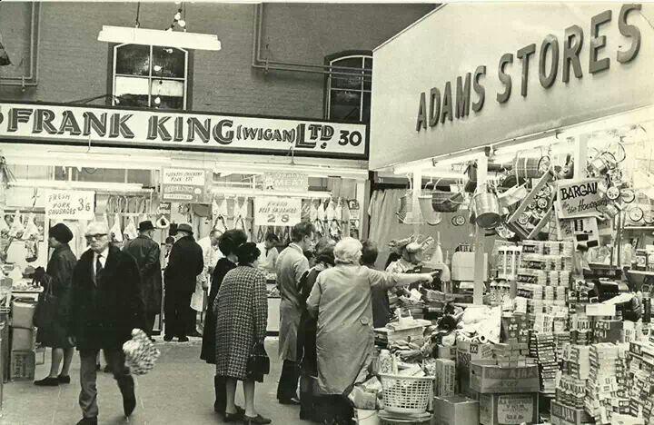 Inside Wigan market