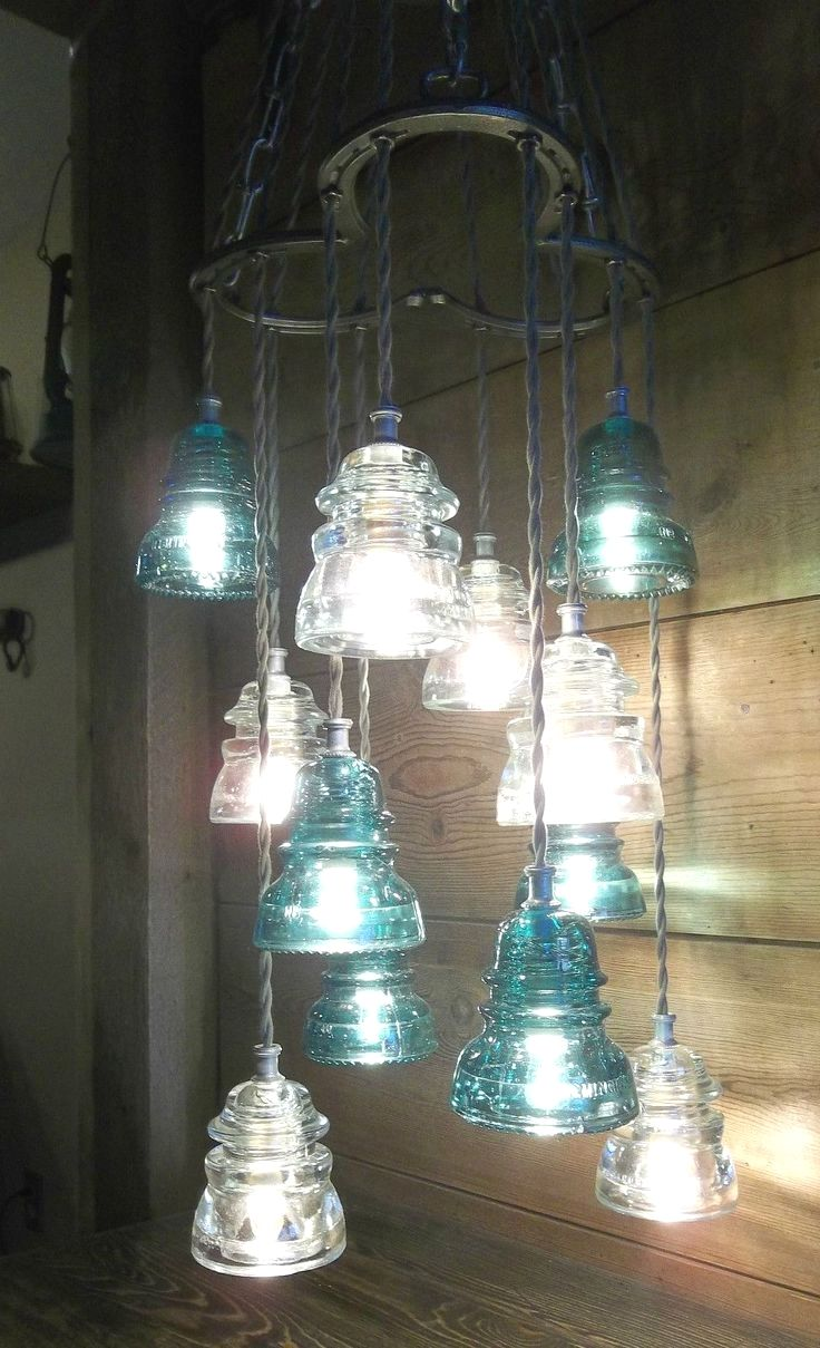 Easy Diy Hanging Lamp Projects You Might Consider For Your Next Project Chandelier Ideas Repurposed Diy Pendant Light Antique Light Fixtures Insulator Lights