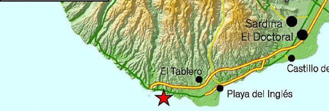 Un seísmo de magnitud 3,6 se siente en Gran Canaria, en concreto al sur de la zona de El Tablero, en el sur de la Isla.